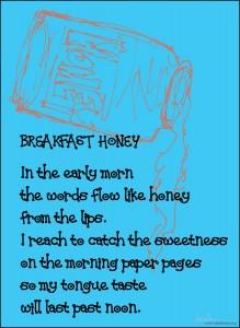 morning honey card